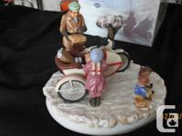 This Harley Davidson Porcelain Figure is a Limited