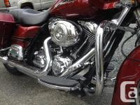2009 Harley Road Glide, Has 70,000kms with all the