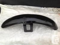 two front fenders, one standard one narrow. approx. 4