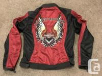 In excellent condition, this mesh motorcycle jacket is
