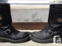 Men's leather motorcycle boots - Harley Davidson.  Size