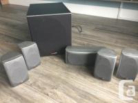 Harman Kardon AVR 130 receiver Polk Audio 5 speakers