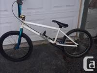 This Rat Rod BMX has a 21 inch frame, 20 inch wheels