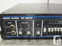 This is a great Hartke 350 watt bass head paired with a
