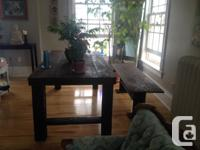6' Harvest Table & Bench Brand new. Made from reclaimed