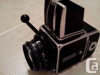 Hasselblad 500C/M. Carl Zeiss Planar lens F=80, (2.8).