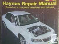 1997 through 2003 Haynes Repair Manual For Chevrolet