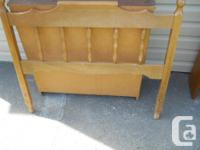 Single bed size Head Board. All real wood, sturdy and