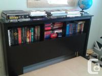 Headboard with shelves and platform bed frame. Fits