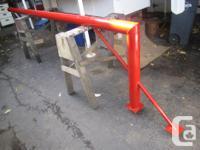 Heavy duty galvanized basketball pole and hoop bracket.