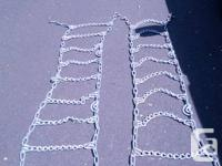 Very heavy duty snow chains. V bar design. Cam