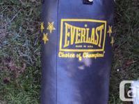 heavy bag aprox 60 lbs. call Mark