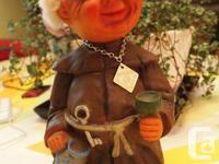 Funny VINTAGE 1960 Heico Old Drunk Monk Bobble Head