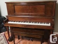 Beautiful Heintzman Upright Grand Player piano. Piano