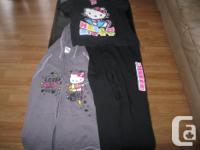 HELLO KITTY tee shirt with hoodie as well as brand