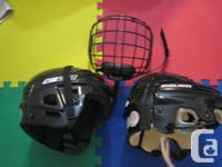 Bauer Man's helmet $25  kid's(age 8-12) helmet $20