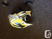 dirt bike helmet size 7 with viser, slip over chest