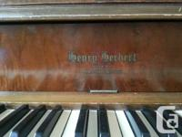Henry Herbert apartment sized piano made by Mason &