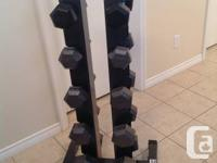 Set of hex dumbbells 224 lbs. 2-10 2-12 2-15 2-20 2-25