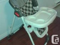 High chair. Great condition. Text or call me at .