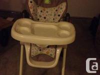 High chair with 3-position recline make early mealtimes