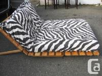 High end modern wood frame futon with removable