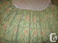 Beautiful crib skirt & fitted sheet from Nestings