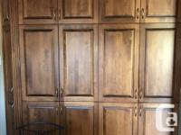 Kitchen cabinets, natural wooden doors including