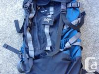 MEC Multi-day Expedition 70L hiking backpack -- $80 Arc