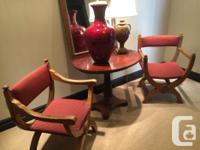 Hand carved, early 1900's monastary chairs from the