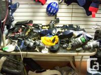 I have for sale hockey equipment, helmets, gloves,