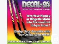 Dress up your hockey or ringette sticks with unique