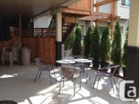 large sunny tea garden. Yoga, readings, etc with