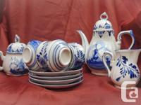 1.Holland coffee set for four persons  coffee pot,