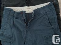 Available at $10 each, all size 38, Hollister shorts in
