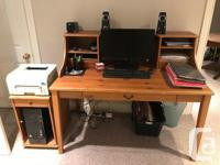 Wooden Ikea home office furniture for sale. Is in