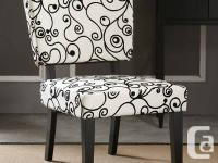 HOME DECOR: Taylor Accent Chair Black and White Scroll