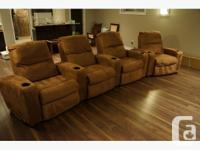 $1100 I am selling 4x home theater recliners (manual)