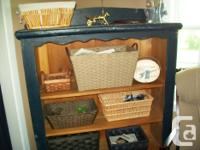 house made book case made with wooden doors. It size 41