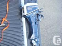 "Medium length (22"") Shaft 10 HP 4 Stroke Honda outboard"