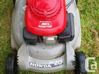 $75 obo Honda mower Plastic deck no holes or cracks