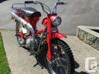 Make Honda Year 1965 kms 2737 Refurbed honda 90 trail: