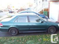 2002 Honda Accord, 193,000 Km. Security examined till