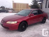 Make. Honda. Version. Accord. Year. 2001. Colour. red.