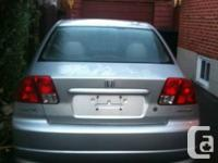 Honda Civic 2005/silver color/clean in and