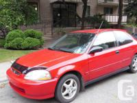 Make Honda Model Civic Coupe Year 1997 Colour red kms
