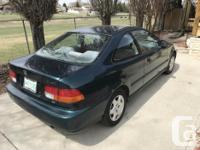 Make Honda Year 1998 Colour Green kms 221310 Trans for sale  Saskatchewan