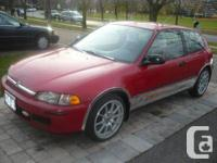 1995 HONDA CIVIC CX  RED COLOR   1.5 LITER ENGINE.  CAR