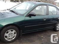 Make. Honda. Model. Civic. Year. 2001. Colour. Metalic