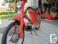 Make Honda Year 1965 1965 Honda Cub. Not running. Good